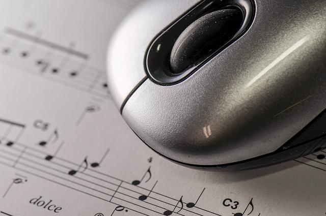 Mouse, Desktop, Technology, Sheet, Music, Score