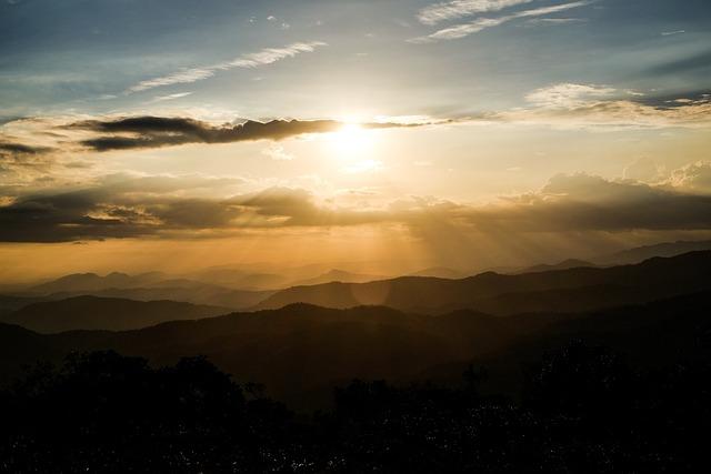 Sunset, Moutain, Viet Nam