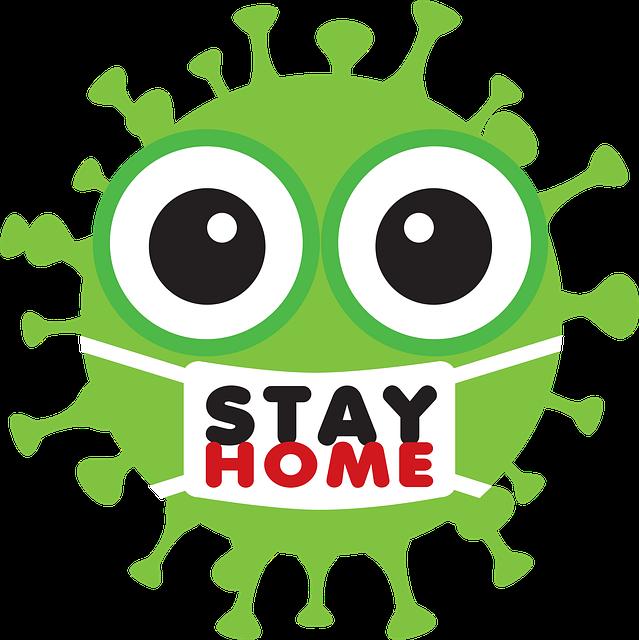 Stay Home, Coronavirus, Emoji, Mouth Guard