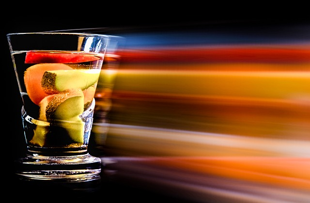 Drink, Color, Fruits, Movement, Bar, Counter, Glass