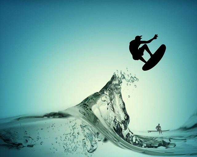 Surf, Wave, Sea, Ocean, Beach, Movement, Turquoise
