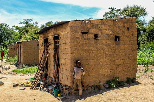Poverty, Mozambique, Poor, Hovel, African, Black