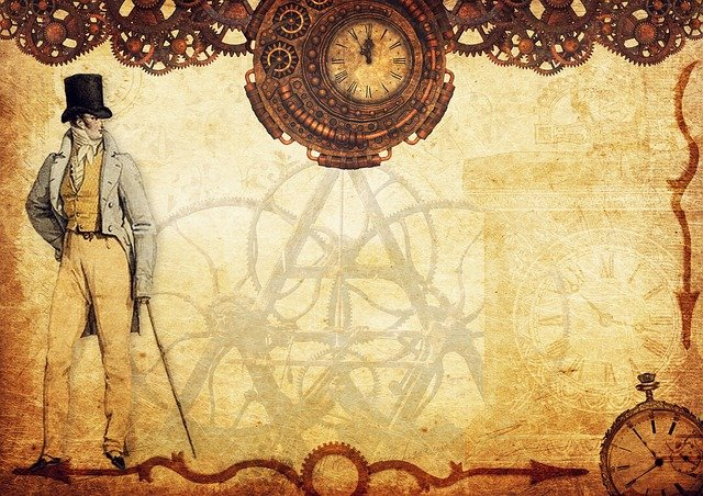 Steampunk, Mr, Watches, Gears, Old, Time, Invention