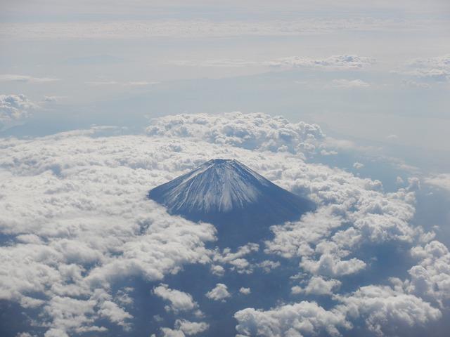 Mt Fuji, Sea Of Clouds, Fuji San, Fuji, Sky, Japan