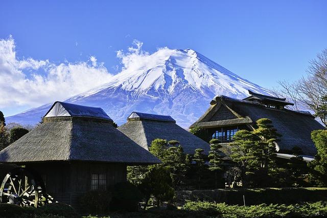 Mt Fuji, Japan, Mountains Of Japan, Sky, Landscape