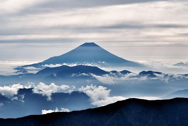 Mt Fuji, Volcano, Mount Fuji, Silhouette, Cloud