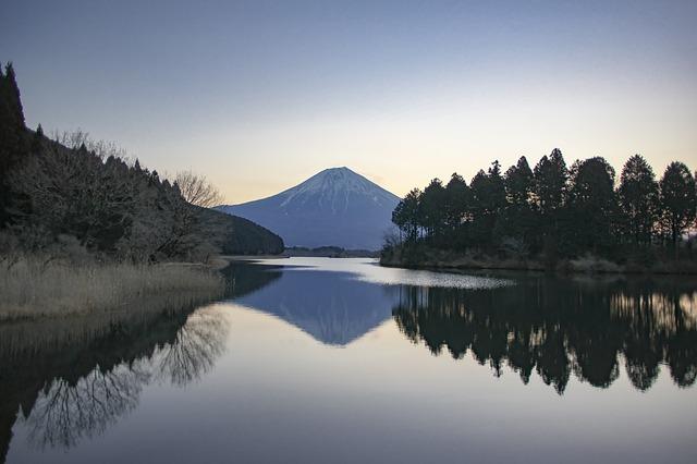 Mt Fuji, Winter, Early Morning, Lake Tanuki, Japan