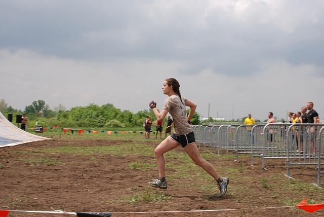 Girl, Woman, Run, Running, Challenge, Race, Mud, Muddy