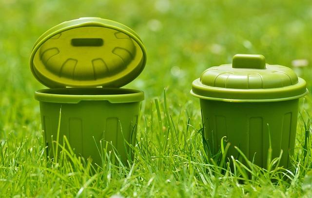 Mülltonnen, Green, Plastic, Bucket, Color, Miniature