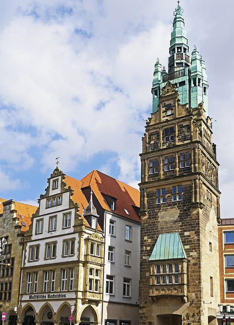 Münster, City Tower, Principal Market, Westfalen