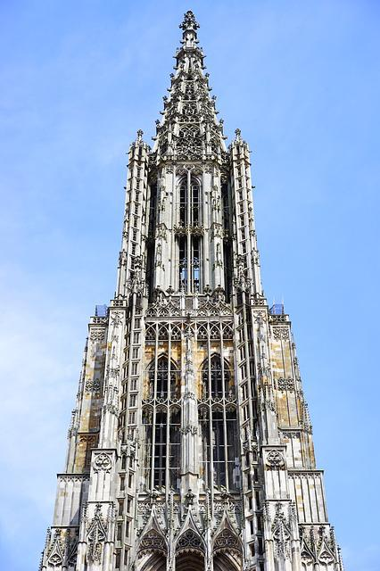 Ulm Cathedral, Münster, Ulm, Building, Facade, Front