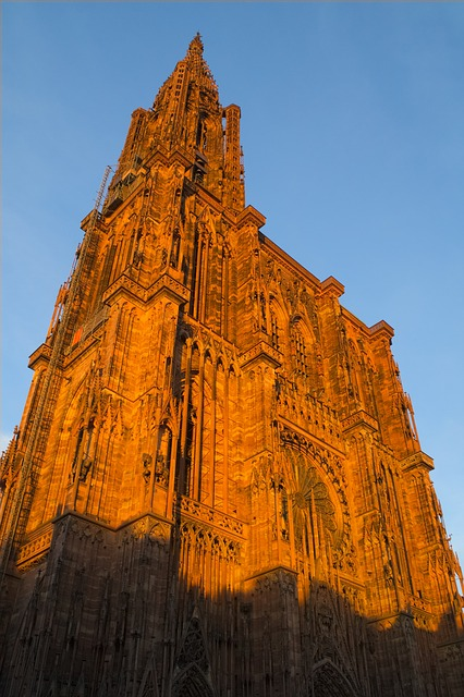 Strasbourg, Münster, France, Alsace, Evening, Sunset