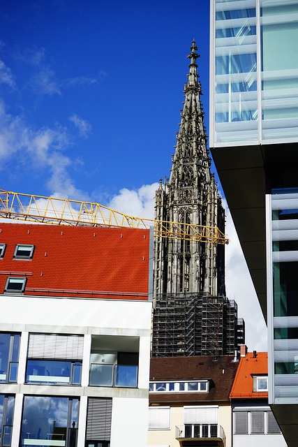 Ulmer, Münster, Building, Church, City Library, Glass