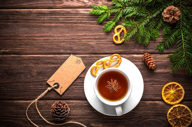 Christmas, Tea, Holiday, Ornament, Background, Mug