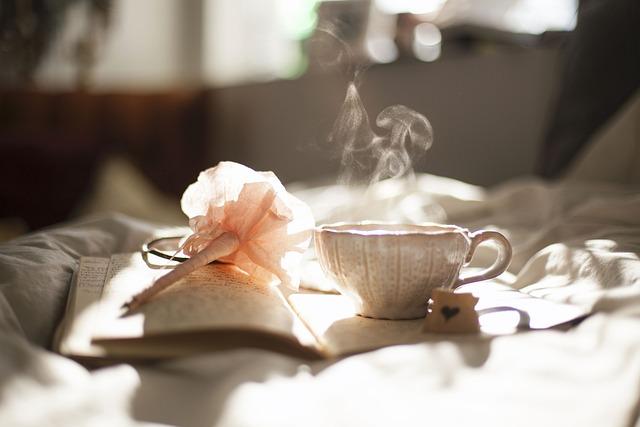 Breakfast, Morning, Coffee, Hot, Cup, Mug, Bed, Book