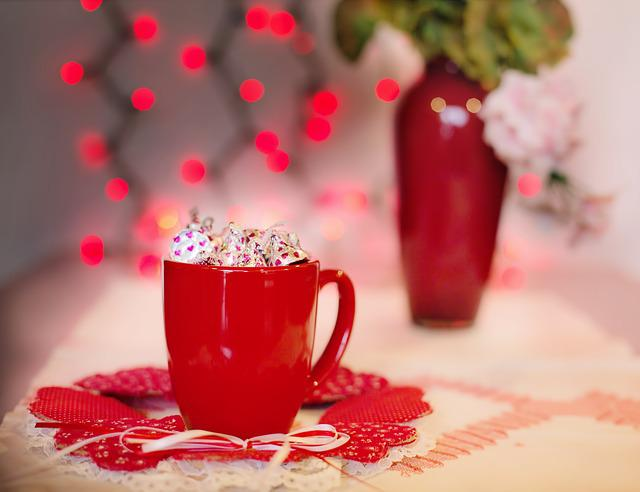 Valentine's Day, Red, Mug, Candy, Love, Valentine