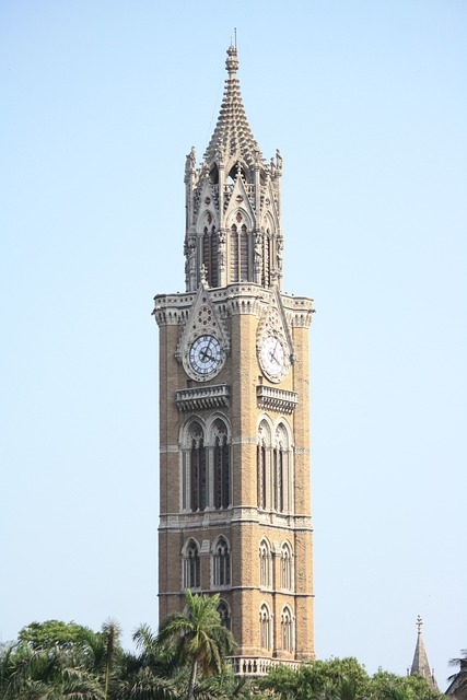 Mumbai, Clock, Tower, Architecture, City, Monument