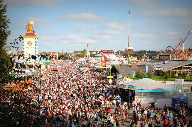 People, Crowd, Munich, Munchen, Bavaria, Octoberfest
