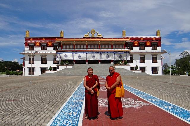 Drepung Gomang Monastery, Mundgod, India, Monks, Buddha