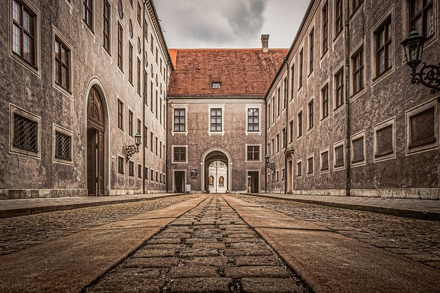 Munich, Buildings, Historic, Cobblestone, Architecture
