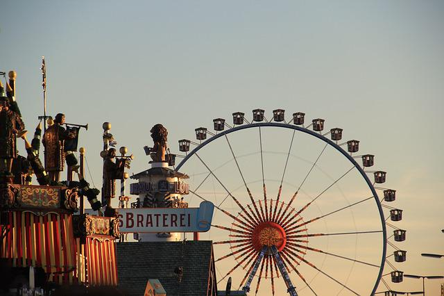 Oktoberfest, Munich, Ferris Wheel, Folk Festival