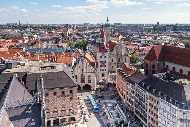 Munich, Marienplatz, Town Hall, Virgin Mary