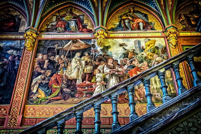 Gallery, Art, Mural, Baroque, Gallery Of Ancestors