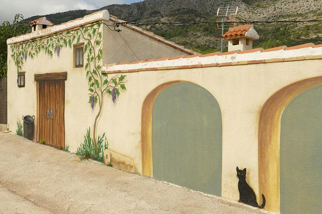 Mural, Painting, Trompe-l'oeil, Building, Facade