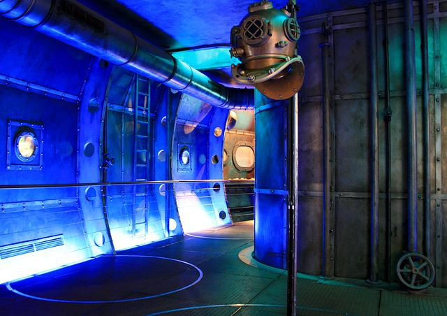 Submarine, Museum, Diving Bell, Biosphere Potsdam