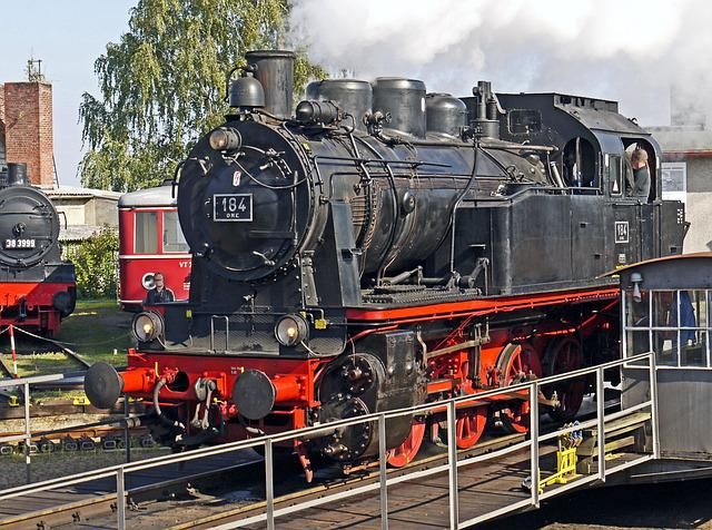 Steam Locomotive, Elna, Museum, Hub