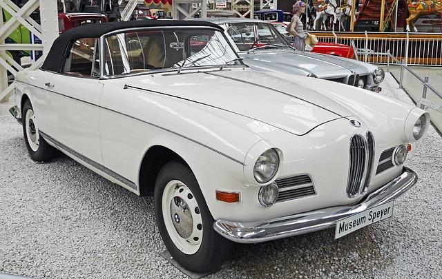 Bmw 503 Cabrio, Museum, Exhibition, Year Built 1957