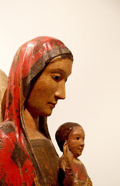 L'aquila, Italy, Museum, Statue, Maria, Jesus