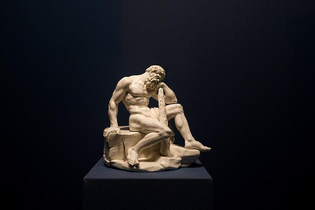 Hercules, Statue, Sculpture, Marble Statue, Museum
