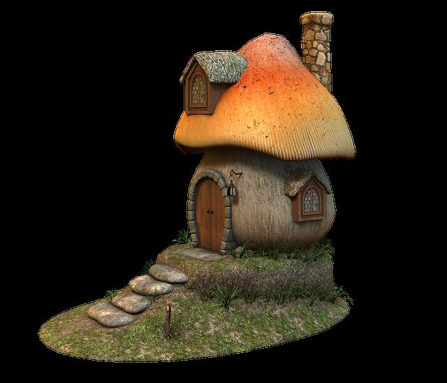 Mushroom, Home, Fairy Tales, Cottage, Mushroom House