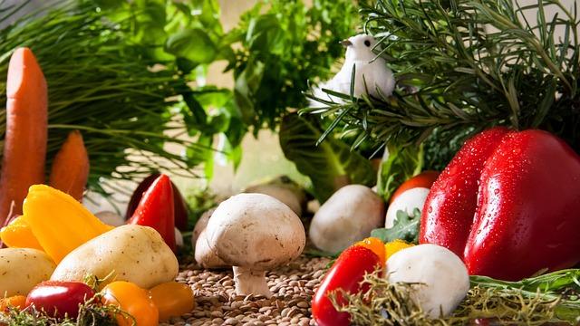 Vegetables, Garden, Mushrooms, Paprika, Food, Eat