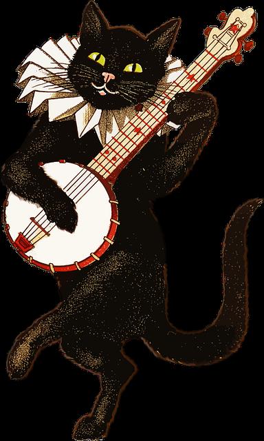 Animal, Anthropomorphic, Cat, Feline, Instrument, Music