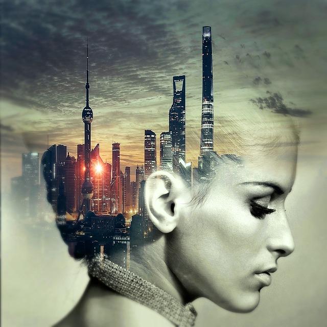 Cd Cover, Head, City, Skyscraper, Cd, Music, Music Cd