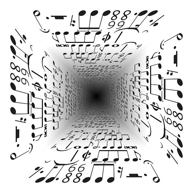 Music, Vanishing Point, Center, Centering, Notenblatt