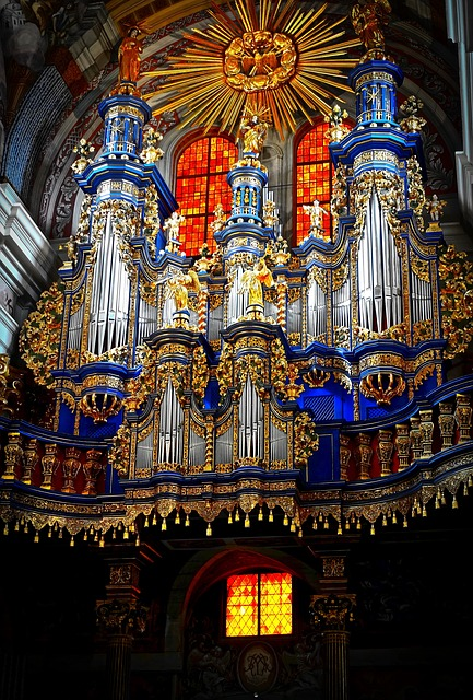 Church, Organ, Music, Instrument, Chapel