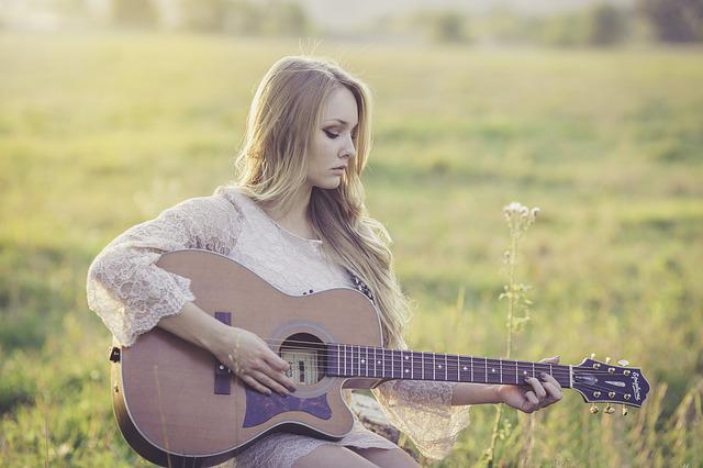 Country, Guitar, Girl, Music, Instrument, Musical
