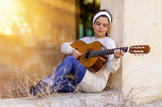 Girl, Guitar, Music, Instrument, Spanish Guitar