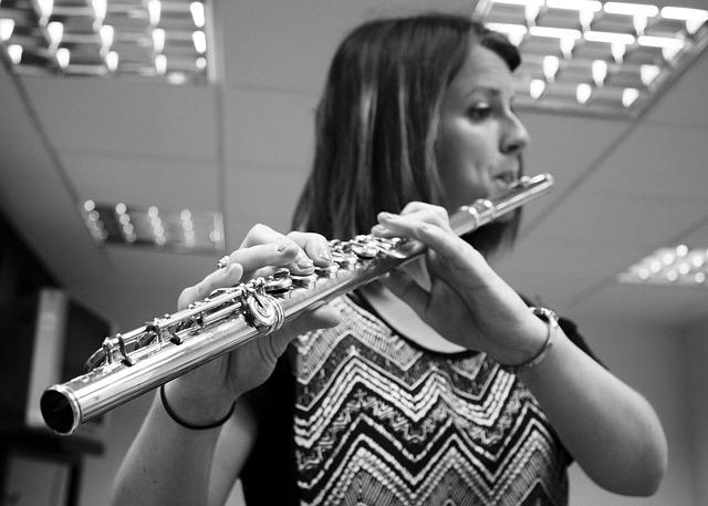 Music, Musician, Flute, Women, Concert