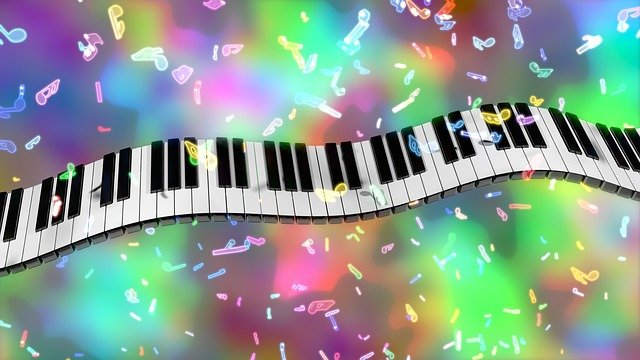 Piano Keys, Music, Colorful, 3d, Blender