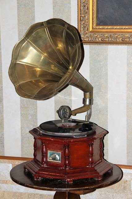 Gramophone, Turntable, Shellac Disc, Music, Tinge