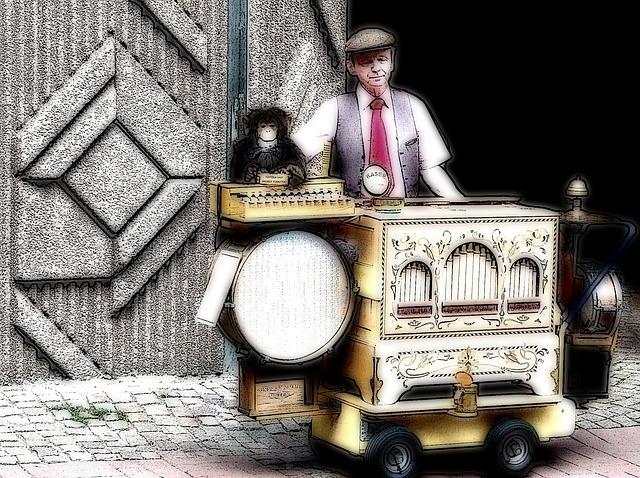 Street Organ, Organ Grinder, Music, National Fixed