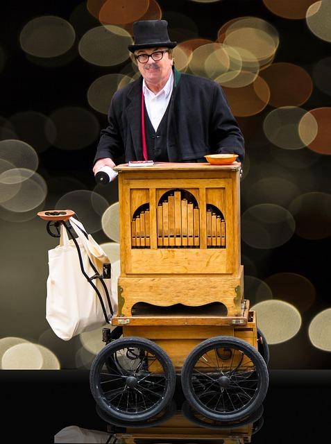 Barrel Organ, Music, Street Organ, Piano Roll, Antique
