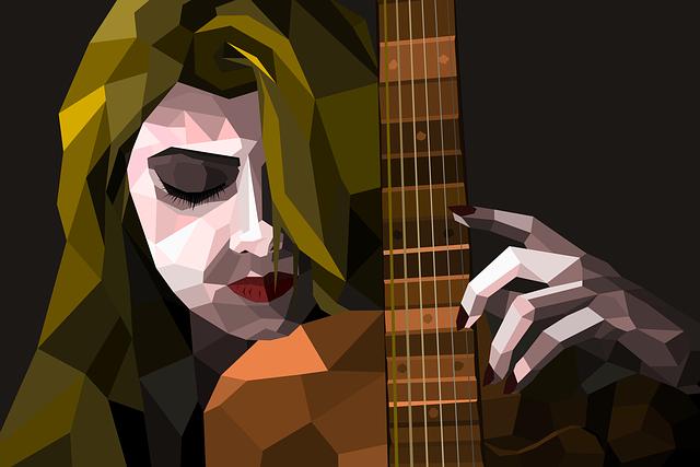 Women, Guitar, Music, Portrait, Instrument, Ropes