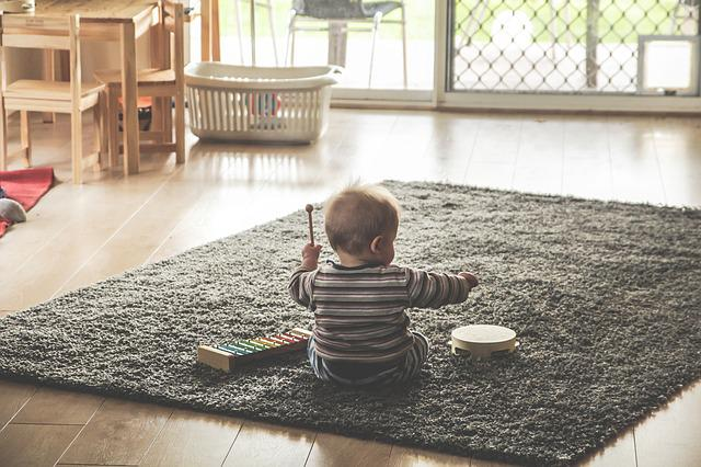 Music, Kids, Children, Play, Xylophone, Tambourine