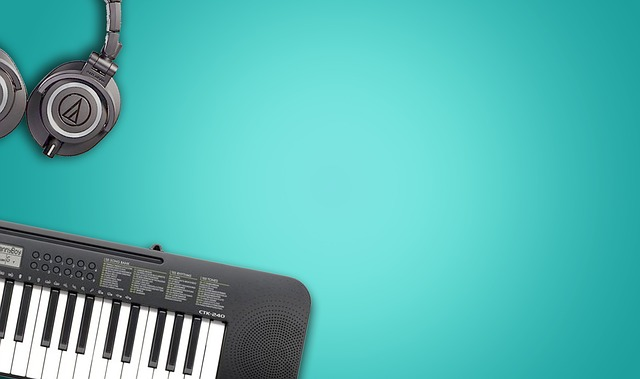 Music Instruments, Blue Background, Musical Background