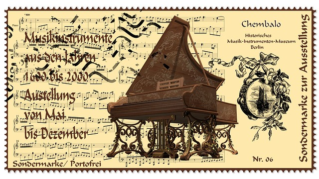 Stamp, Harpsichord, Musical Instrument, Museum